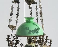 Lustre ancien , monte-baisse ,Napoléon III