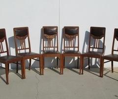 Lot de 6 chaises Art nouveau , style Majorelle, Olbrich vendues