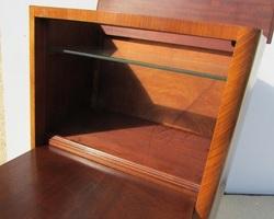 Secrétaire des années 60-70 marqueté, idéal meuble informatique