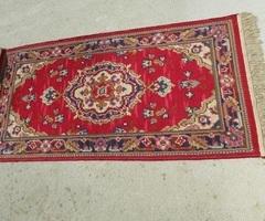 Petit tapis ancien coloré , 150 x 70 cm
