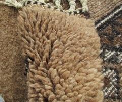 Grand tapis en poils de chèvre et laine , 205 x 290 cm,fait main