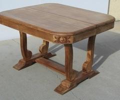 Table Art déco, pied berceau, ouvrante, jusqu'à 18 personnes , vendue