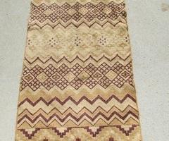 Petit tapis beige et marron, 125 x 65 cm