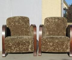 Paire de petits fauteuils club art déco , d'origine , vendue