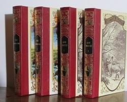 Lot de 4 livres: J.Verne et H.Malot, editions Famot , 1978