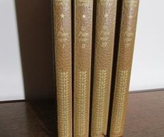 4 livres reliés or et marron: le pain noir de Clancier