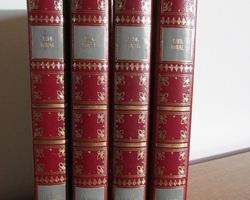 Lot de 4 livres reliés : le bossu de Paul Feval