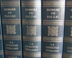 Lot de 12 livres reliés d'Honoré de Balzac : La Comédie Humaine