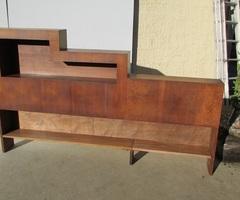 Cosy,tête de lit, bibliothèque année 30 en noyer , vendu