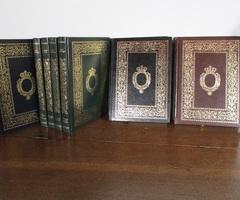 12 livres reliés de la littérature classique, divers auteurs