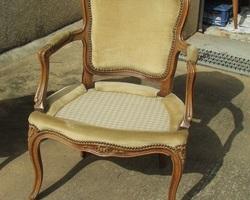 Paire de fauteuils cabriolets bergères, Style Louis XV, Style Louis XV