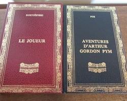 Lot de 2 livres reliés : Poe et Dostoïeski