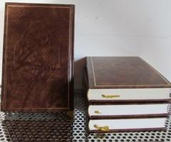 6 livres reliés cuir marron et dorure :  JEANNE BOURIN