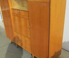 Grande armoire vintage , 5 en 1 en chêne marqueté