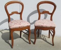 Paire de chaises Louis Philippe romantiques ,vendue