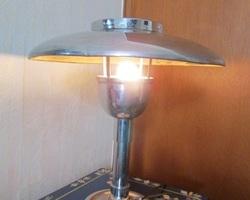 Lampe champignon Vintage chromée