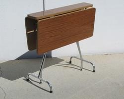 Table pliante chrome et formica , 1970 s