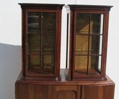 Paire d'anciennes petites vitrines 1920-1930 , vendues