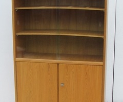 Vitrine bibliothèque vintage en chêne des années 50-60