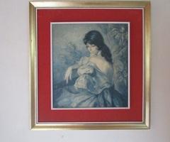 TABLEAU ANCIEN FRANCISCO Ribera la Gitane