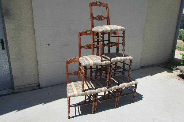 Série de 6 chaises en merisier, 19 ème