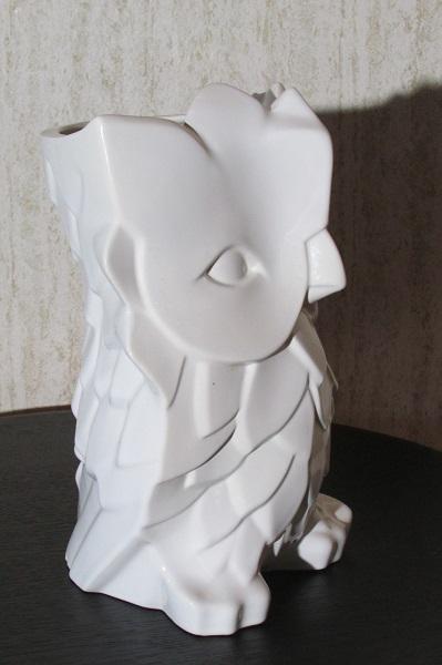 Jloi vase contemporain, en forme de chouette