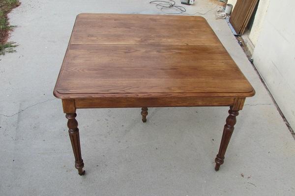 Table de salle à manger ancienne ouvrante 5 pieds