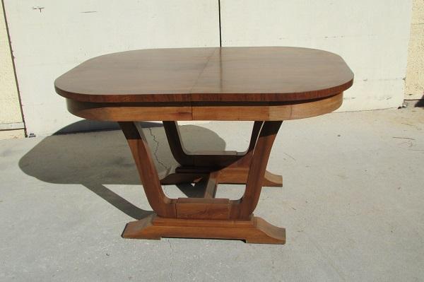 Table ovale art déco , 4 allonges,jusqu'à 18 personnes