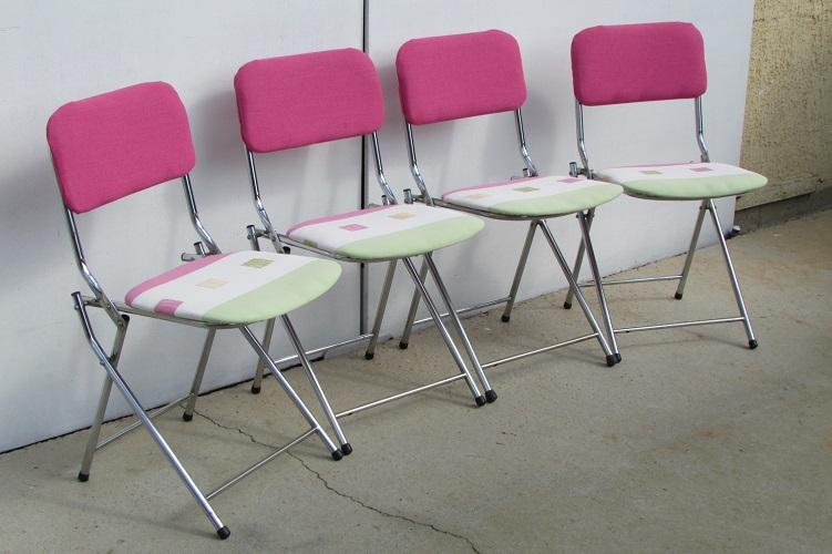 4 chaises vintages pliantes des années 60