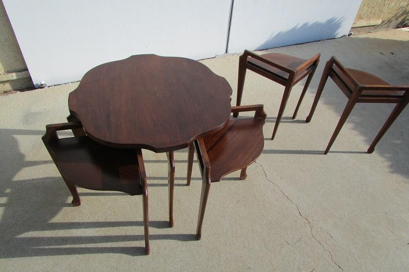 Ensemble de tables gigognes , modulables , vintages