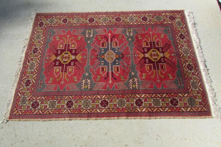 Tapis ancien, d'Orient fait main en laine, Daghestan, 150 x 105 cm , 250 €