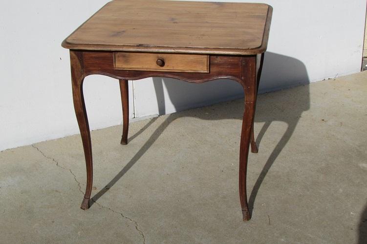 Très ancien table bureau en pin massif