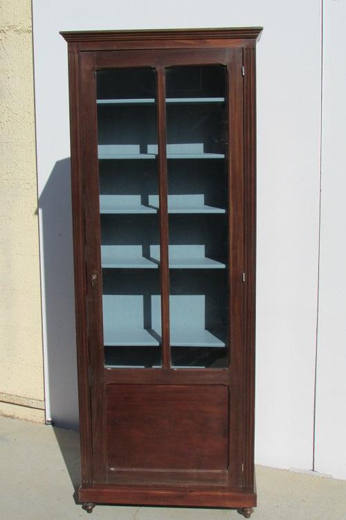 Petite bibliothèque , vitrine en acajou