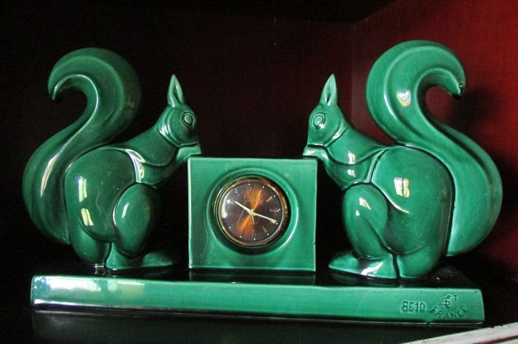 Très belle horloge de comptoir signée Ch. Lemanceau et St Clement