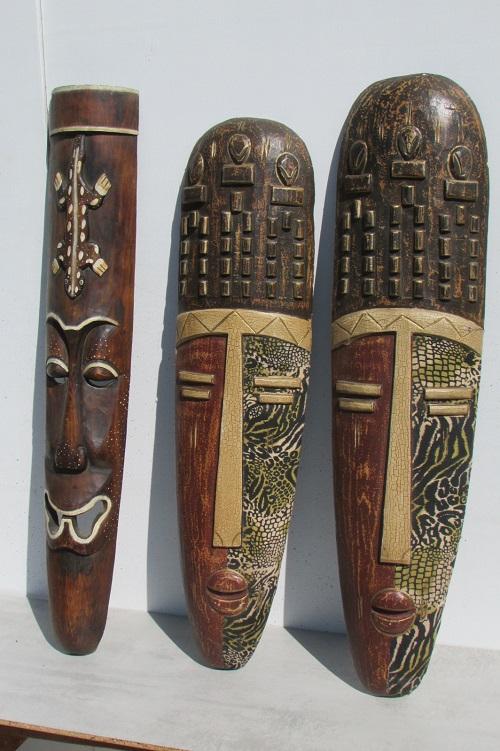 3 grands masques etniques africains