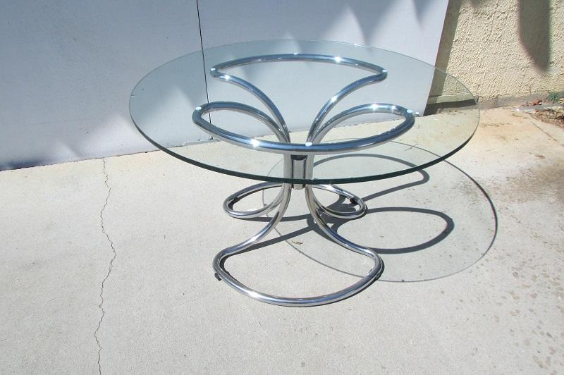 Table ronde design Giotto Stoppino, 1970s