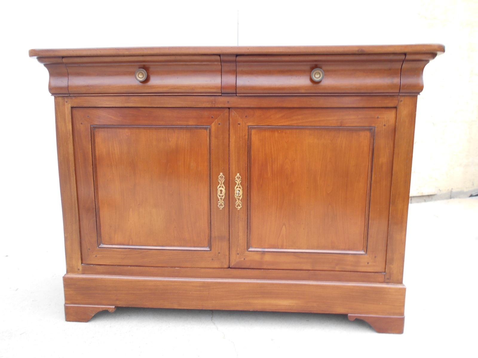Buffet Louis Philippe 2 portes/2 tiroirs